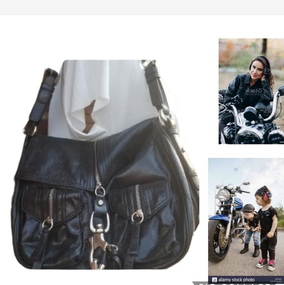 Francisco Biasia leather moto bag